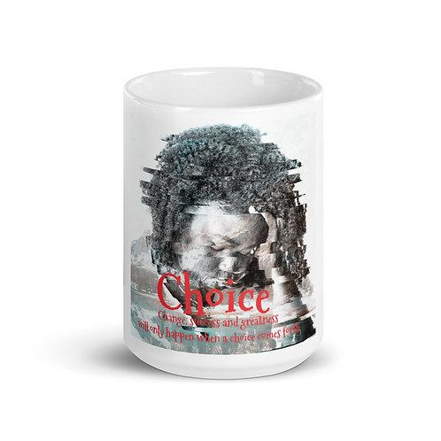 Choice White glossy mug