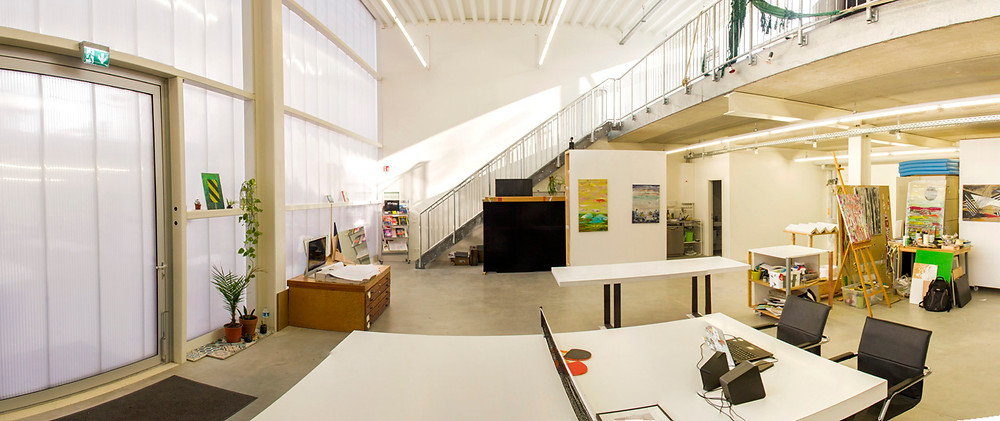 Panorama from Tahian Bhering and Robin Resch Studio in Berlin
