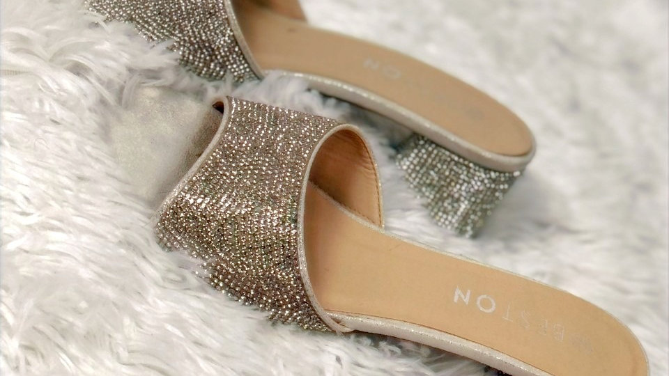 Diamond Studded Sandals
