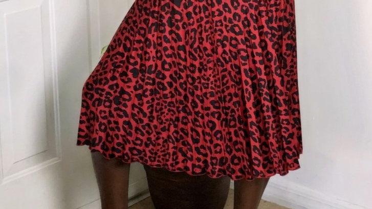 Red Worthington Printed Skirt!