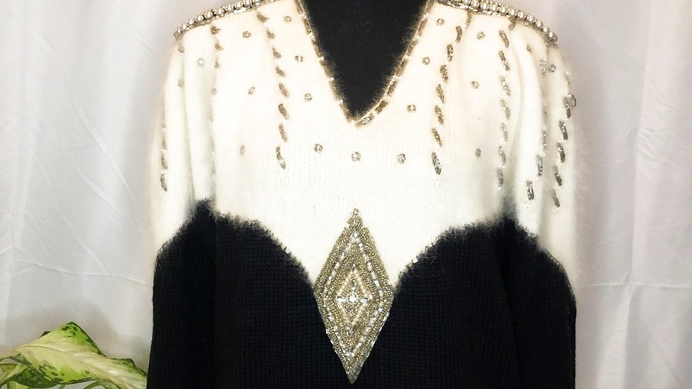 """Bedazzled Vintage Sweater"