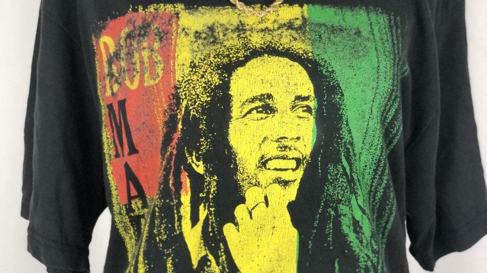 """""""Bob Marley"""" Thrifted Tee"""