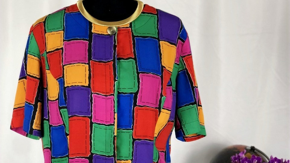 Colorful Collarless Top