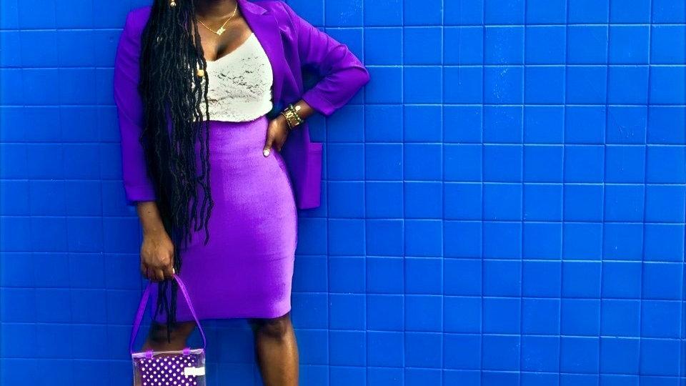 Vibrant Purple Skirt
