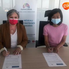 GSK s'engage pour concilier cancer, maladies chroniques et travail et signe la charte Cancer@Work