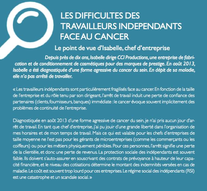 Les difficultés des travailleurs indépendants face au cancer