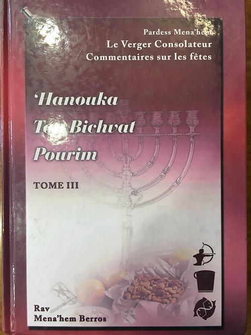Pardess Menahem sur les fêtes Tome 3