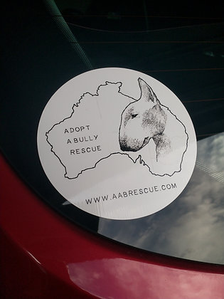 Adopt A Bully Rescue Logo Car Sticker