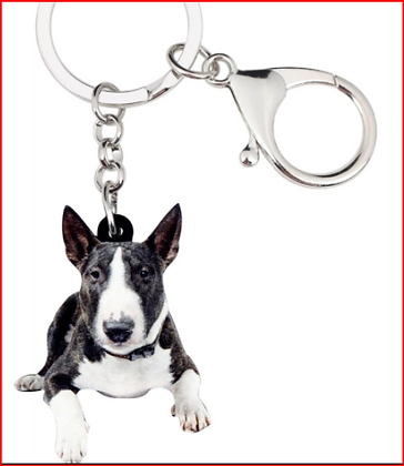Brindle Bully Key Ring