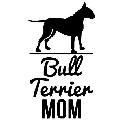 Bull Terrier Mom Sticker