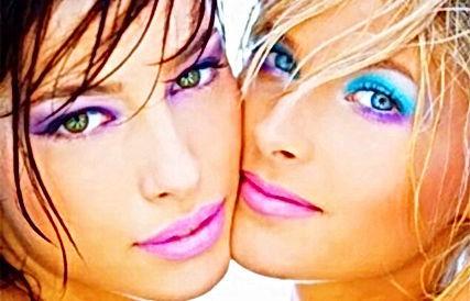 Blue nd Purple bright vegan mineral eye shadow