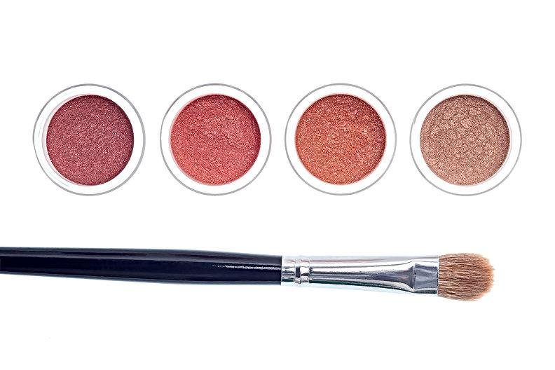 Makeup sample and brush