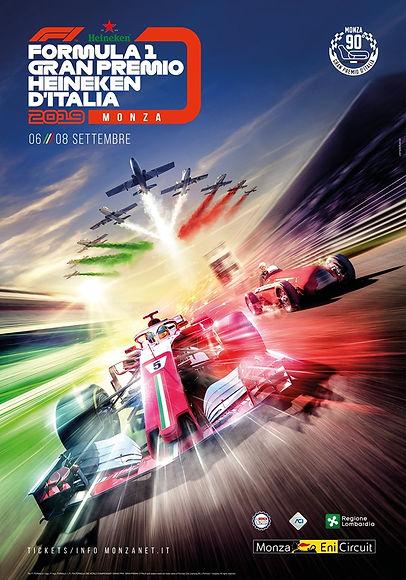 Locandina ufficiale Gran Premio d'Italia di Formula