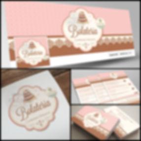 Criação de Logotipo para Confeitaria. Capa de Facebook para Confeitaria. Cartão de Visitas para Confeitaria. Panfleto para Confeitaria.