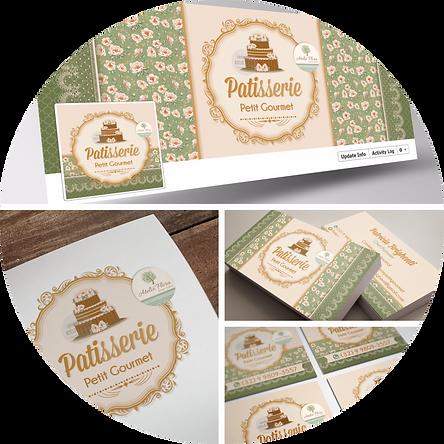 criação de logotipo, logotipo para confeitaria, logotipo floral, logotipo vintage, cartão de visitas, logotipo floral