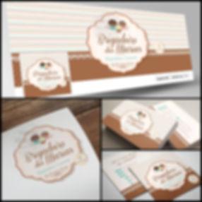 Logotipo para Brigadeiria Gourmet. Capa de Facebook para Brigadeiria Gourmet. Cartão de Visitas para Brigadeiria Gourmet.