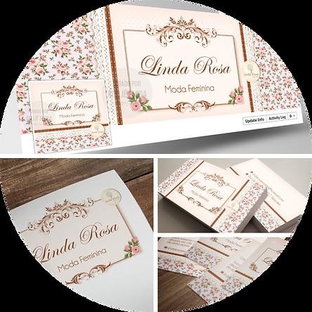 criação de logotipo para moda feminina, logotipo floral, logotipo para boutique, cartão de visitas floral