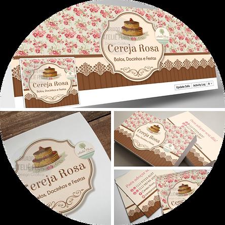criação de logotipo, logotipo para confeitaria, logotipo floral, logotipo vintage, cartão de visitas, panfleto