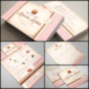 Criação de Cartão de Visitas e Panfleto para Confeitaria
