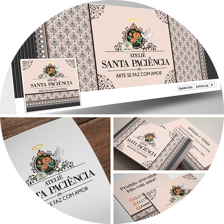 criação de logotipo artesanato, logotipo floral, logotipo para artesã, logotipo costura criativa
