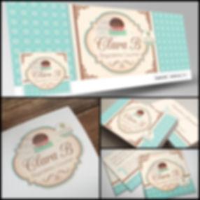 Criação de Logotipo para Brigadeiria Gourmet. Capa de Facebook para Brigadeiria Gourmet. Cartão de Visitas para Brigadeiria Gourmet. Identidade Visual para Brigadeiria Gourmet