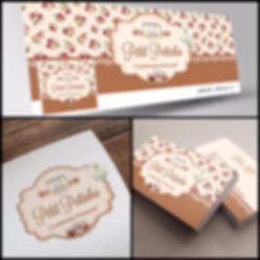 Logotipo para Confeitaria. Capa de Facebook para Confeitaria. Cartão de Visitas para Confeitaria.