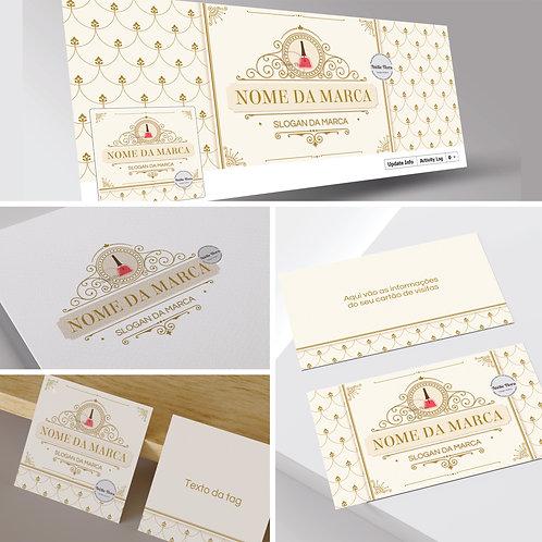 Logotipo para Esmalteria. Capa Facebook para Esmalteria. Cartão de Visitas Esmalteria. Tag Esmalteria