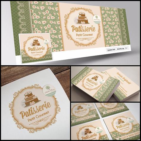 Criação de Logo para Confeitaria. Capa de Facebook para Confeitaria. Cartão de Visitas para Confeitaria. Identidade Visual para Confeitaria.