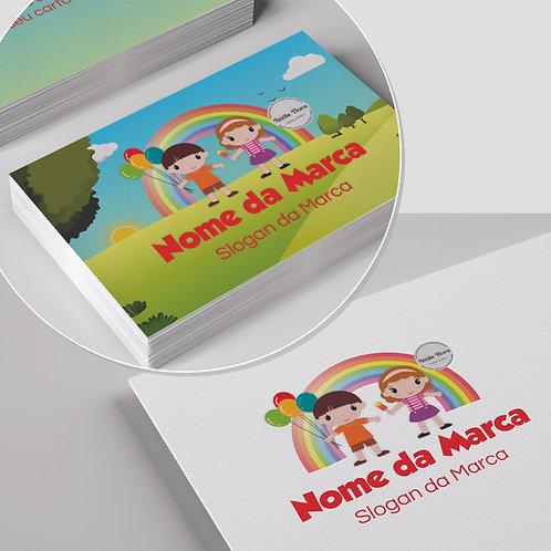 """Kit: Logotipo + Arte para Cartão de Visitas: """"Alegria 6"""""""