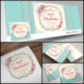 Criação de Logotipo floral para artesã. Capa de Facebook floral para Artesã. Cartão de Visitas floral para Artesã.