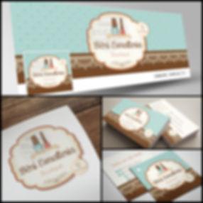 Logotipo para Esmalteria. Capa de Facebook para Esmalteria. Cartão de Visitas para Esmalteria