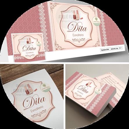 criação de logotipo, logotipo para esmalteria, logotipo vintage, cartão de visitas para esmalteria