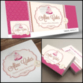 Logotipo para Confeitaria. Capa de Facebook para Confeitaria. Cartão de Visitas para Confeitaria. Identidade Visual para Confeitaria.