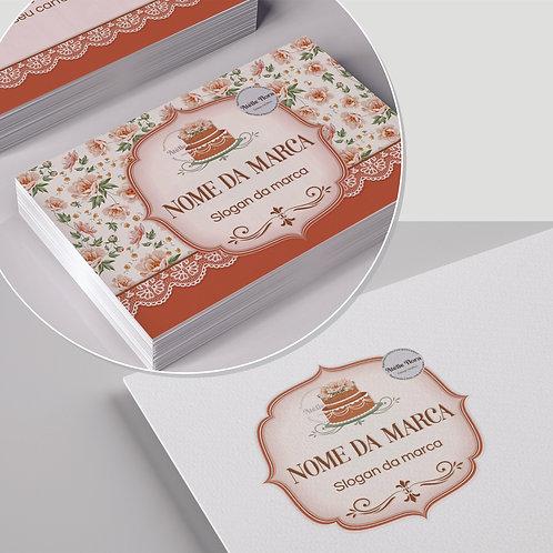 """Kit: Logotipo + Arte para Cartão de Visitas: """"Confeitaria Floral 6"""""""