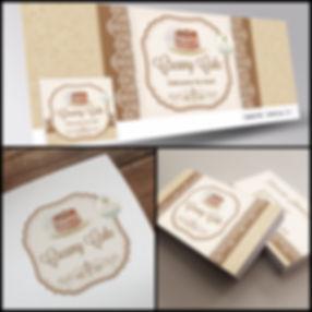 Criação de Logotipo para Confeitaria, Capa de Facebook para Confeitaria, Cartão de Visitas para Confeitaria