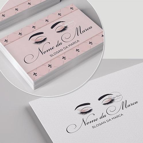"""Kit: Logotipo + Arte para Cartão de Visitas: """"Designer de Beleza"""""""