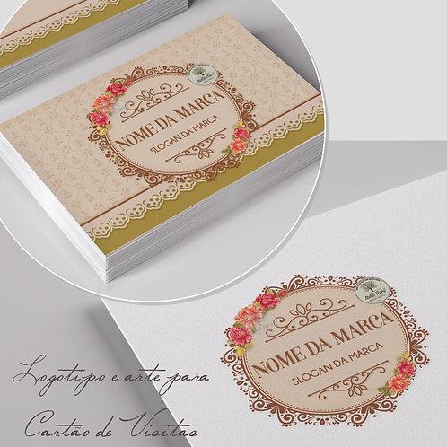 Logotipo floral vintage. Logotipo com flores. Cartão de visitas floral vintage. Tag floral vintage. Adesivo floral vintage