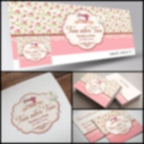 Logotipo floral. Logotipo com máquina de costura. Logotipo para Artesã. Cartão de Visitas floral. Cartão de Visitas para Artesã.