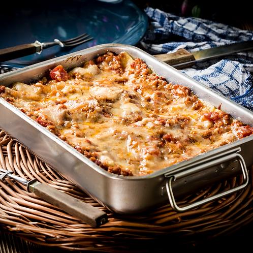 Lasagne fatte a mano con ragù alla bolognese