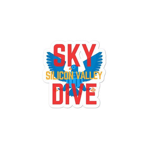 Skydive Silicon Valley Falcon Bubble-free stickers