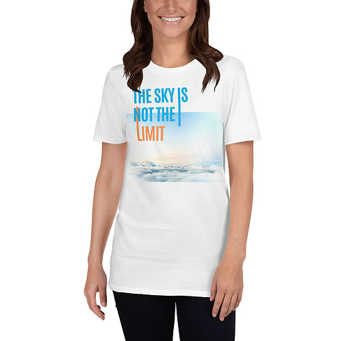 Skydive Hollister Printed White T-Shirt - Sky Is Not The Limit