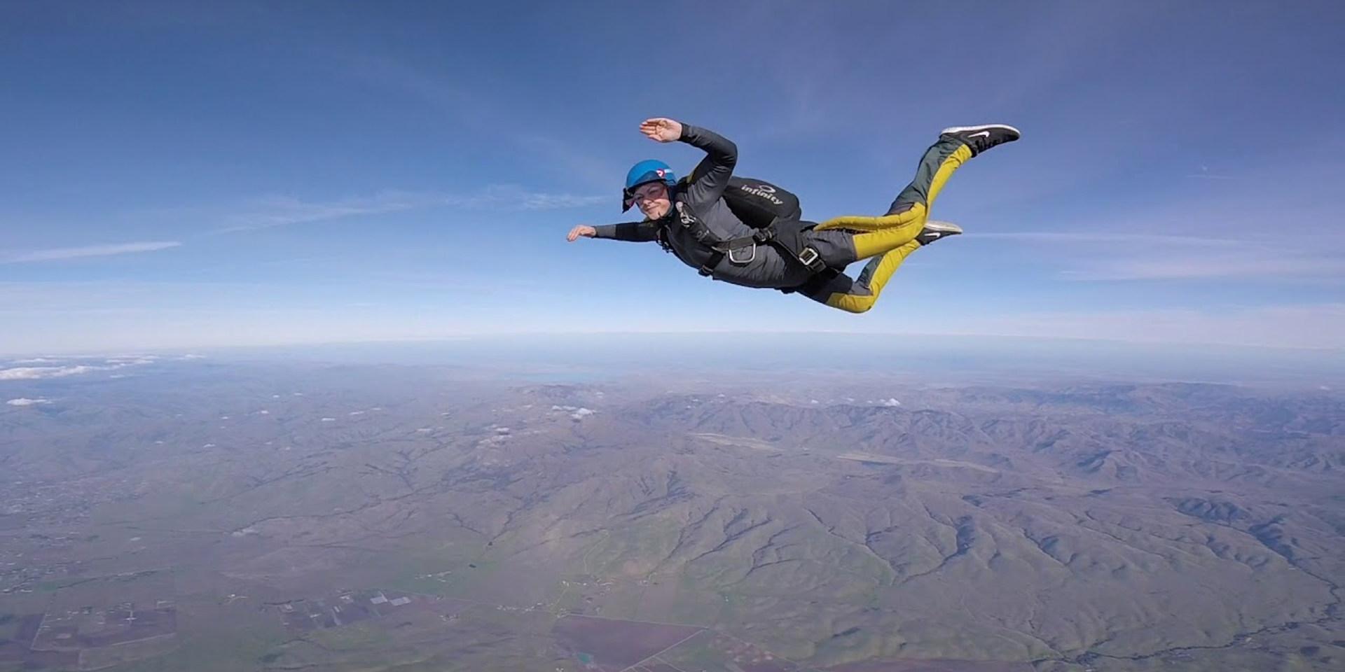 Kayla's AFF Level 7 - Graduation Jump at Skydive Hollister