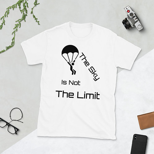 Sky Is Not The Limit Printed Skydive Hollister Short-Sleeve Unisex T-Shirt