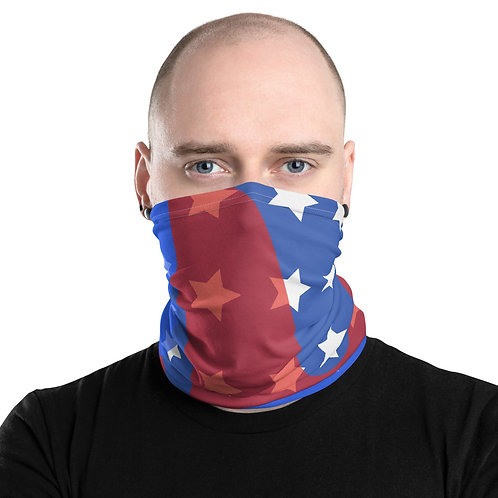 Red White and Blue Skydive Hollister Neck Gaiter