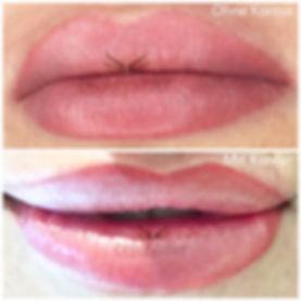 Lippenvollschattierung Permanent Make-up ohne Kontur/ Rand, mit Kontur/ Rand natürlich nude zart rosa Felicia Cramer