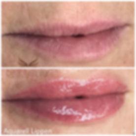 Lippen schattiert aquarell zart ohne Kontur natürlich rosa nude by Felicia Cramer