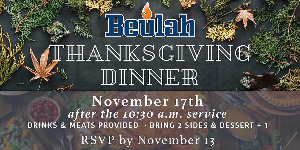 Beulah Thanksgiving Dinner