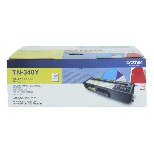 Brother TN-340Y Standard Color Toner Cartridge (1500 pages )
