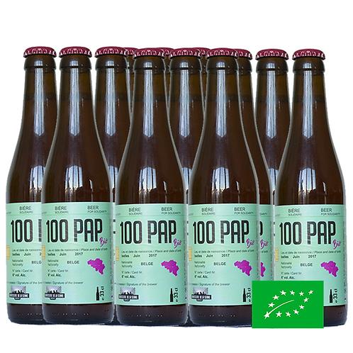 100PAP Bio 12x33cl - Bière Solidaire