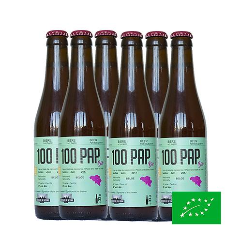 100PAP Bio 6x33cl -  Bière Solidaire